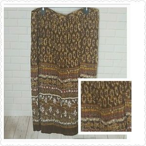 Alfred Dunner Boho Sunflower Pleated Skirt 22W